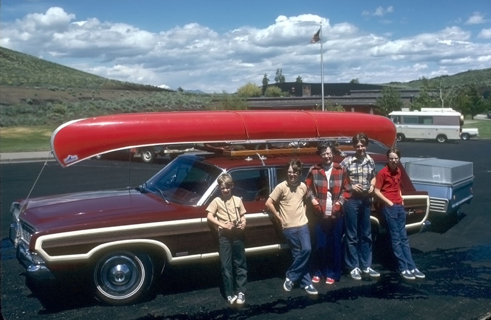 I was fortunate to travel across the western U.S. and Canada with my family in the classic Ford LTD Country Squire wagon . This time the car will be much less crowded.