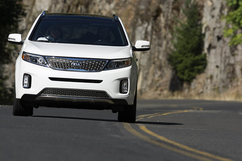 I'll be driving a 2014 Kia Sorento as I journey across the country.