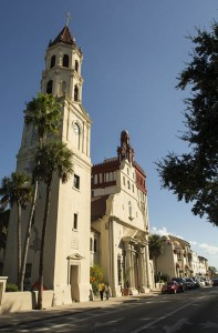 Located in historic district, the Cathedral Basilica of St. Augustine was built in 1793.