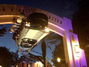 Disney Studios' Rock & Roller Coaster features stretch limos that are catapulted from 0 to 60 mph in 2.8 seconds before going inverted three times.  It's best to eat after the ride.