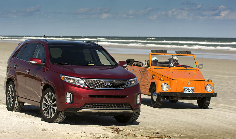 Even the 2014 Kia Sorento got to play on Daytona Beach.