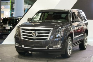 Cadillac's 2015 Escalade luxury SUV made its first auto show appearance at the Miami Auto Show.